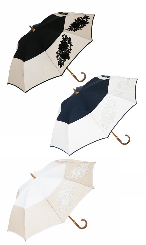 【アシーナニューヨーク(Athena New York)】フラワーレース日傘(全3色)