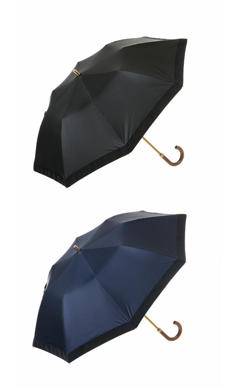 【アシーナニューヨーク(Athena New York)】ポリエステル×グログラン晴雨兼用折りたたみ傘(全2色)