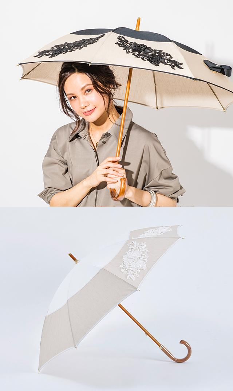 【アシーナニューヨーク】アメリアレース日傘/ショート(2色)