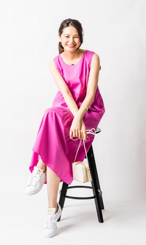 【アテッサ】ストレッチコットンティヤードドレス(フィーシャピンク)