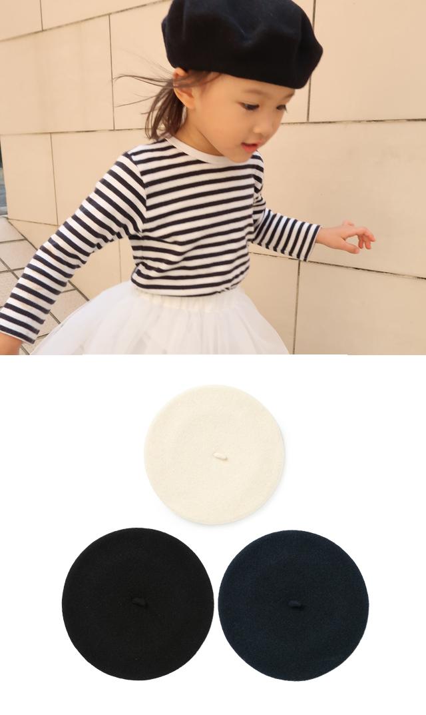 【ルベレーフランセ(Le Beret Francais)】キッズベレー帽(全3色)