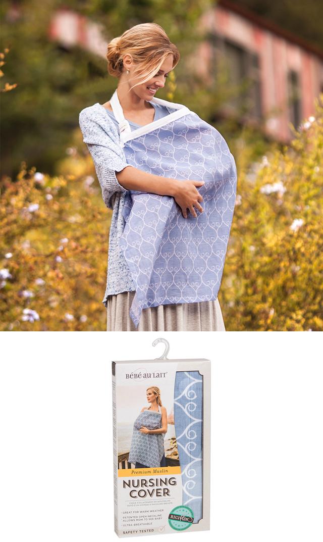 【ベベオレ】モスリンコットン授乳カバー(ポルタ)