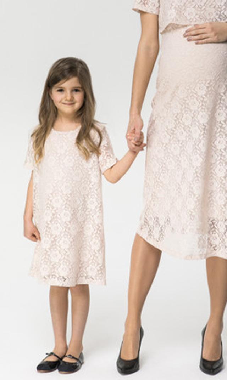 【クールママ(Cool Mama)】ロマンティックガール・レースキッズドレス(ピンク)