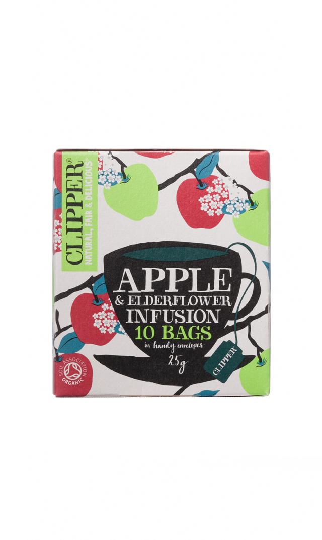 【CLIPPER】カフェインレスオーガニックティー(アップル&エルダーフラワー)