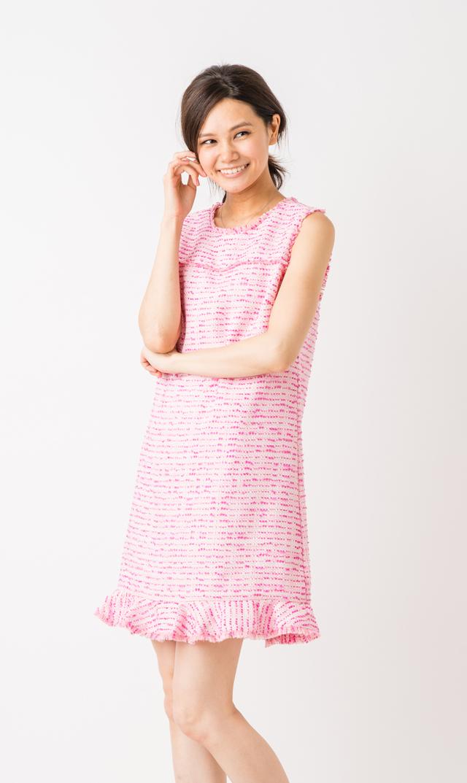 【シンシアステフィ(Cynthia Steffe)】)ブルードレス(ピンク)