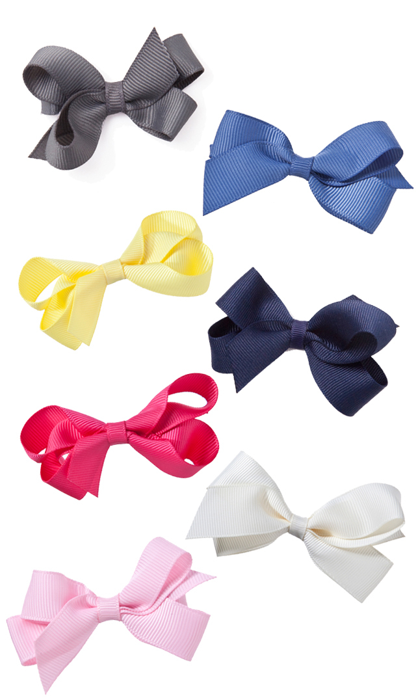 【ドリボウズ(dori bows)】ミディアムリボンヘアクリップ(7色展開)