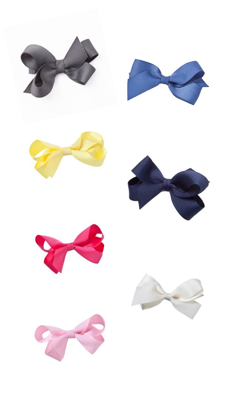 【ドリボウズ(dori bows)】スモールリボンヘアクリップ(7色展開)