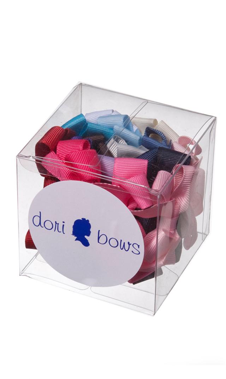 【ドリボウズ(dori bows)】スモールリボンヘアクリップBOXセット(17色)