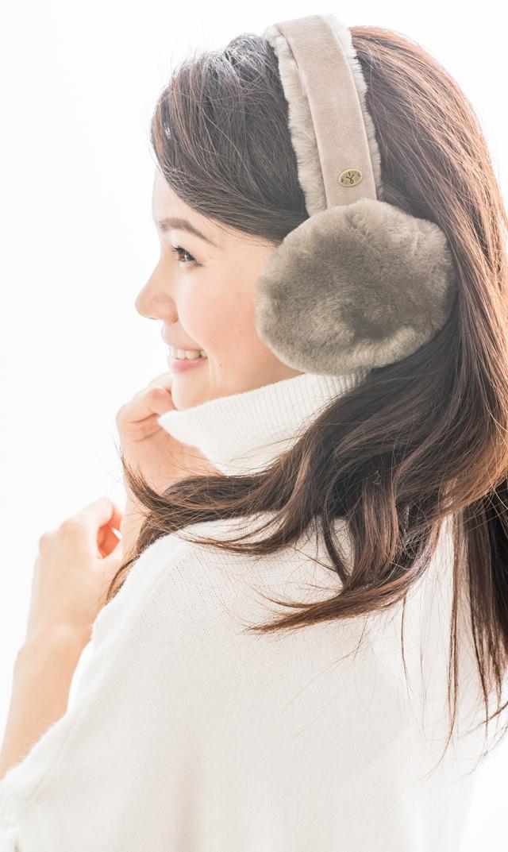 【エミュー(EMU)】シープスキンイヤーマフ(マッシュルーム)