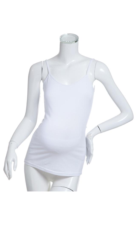 【ナインファッション(9fashion)】ベーシックキャミソール(ホワイト)