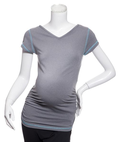 【fit2Bmom】アクティブTシャツ(グレー×ミスト)