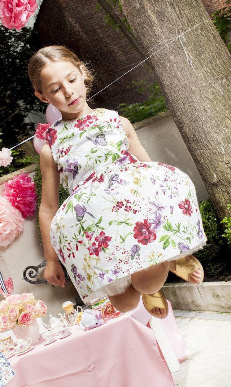 【フローレンスファンシー(FRORENCE FANCY)】フローラルキラドレス/3-6歳