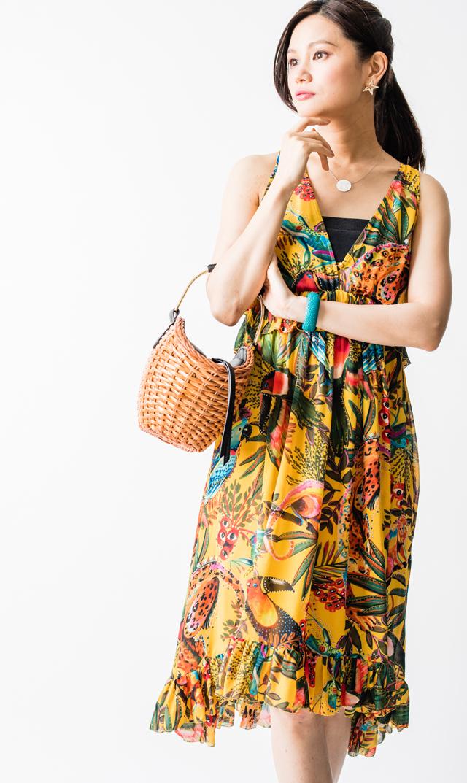 【ファームリオ(FARM RIO)】イントゥーザワイルドドレス(イエロー)