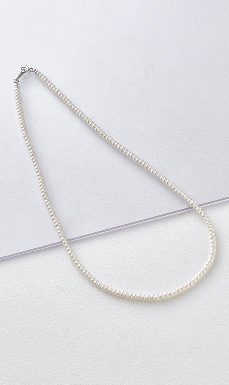 【ファンエンパイヤ】ベビーパールネックレス(3.2mmホワイト/silver)38cm/40cm
