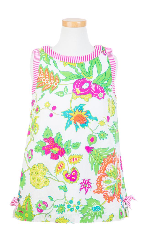 【グレッチェン スコット(Gretchen Scott)】ワンダーランドキッズドレス(ピンク×イエロー)/2歳-10歳