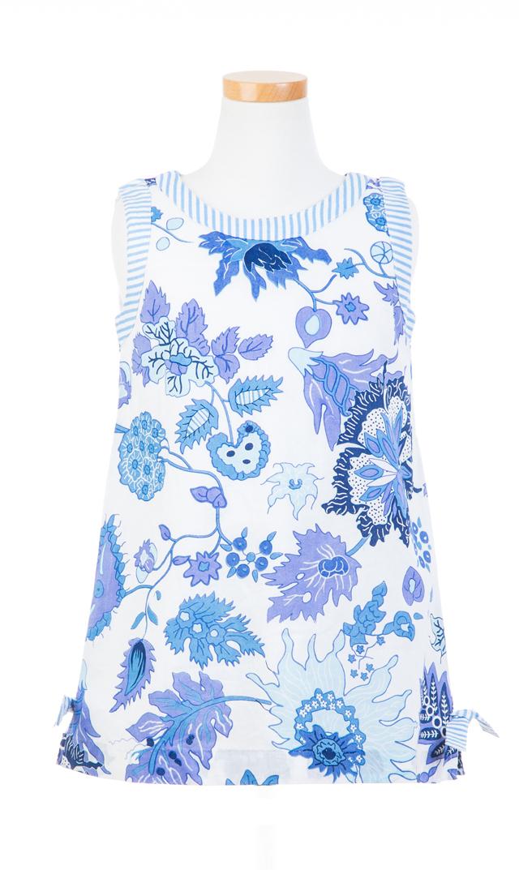 【グレッチェン スコット(Gretchen Scott)】ワンダーランドキッズドレス(ブルー×ホワイト)/2歳-10歳