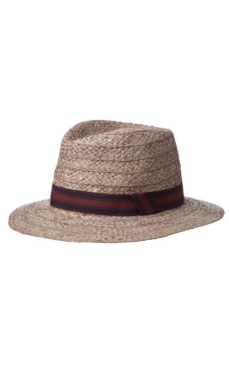 【ハッツアンドドリームス(Hats & Dreams)】ラフィア中折れハット(オリーブ)