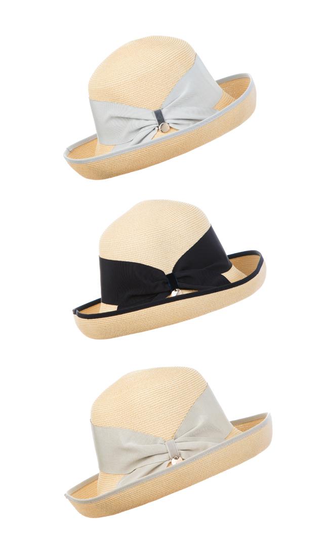 【ハッツアンドドリームス(Hats & Dreams)】ペーパーリボンハット(ナチュラル)[折り畳み可]