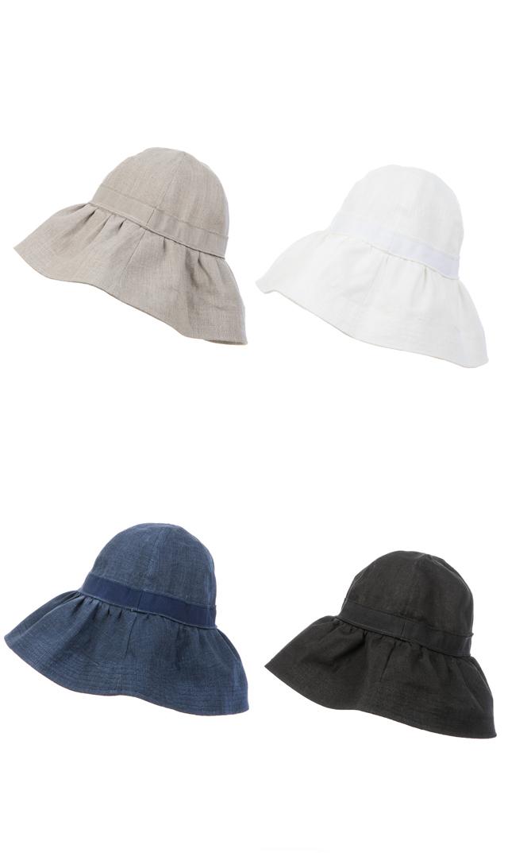 【ハッツアンドドリームス(Hats & Dreams)】リネンハット[折り畳み可]
