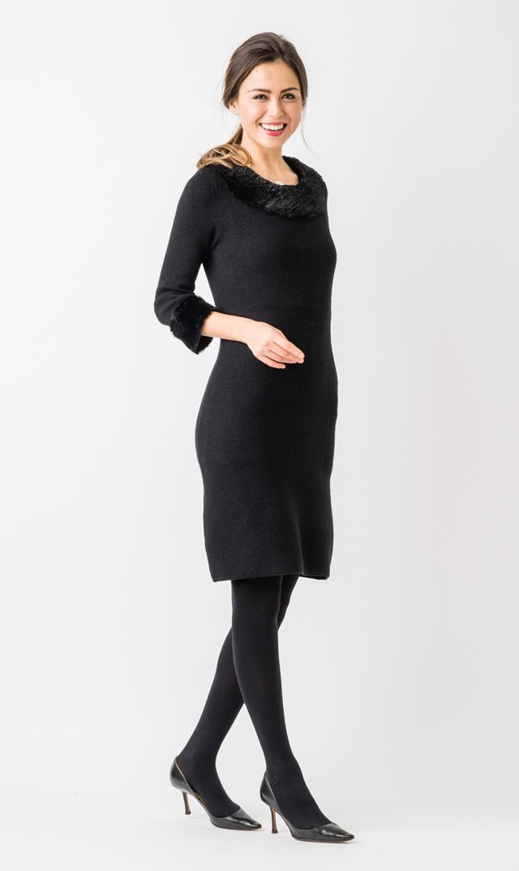 【ジュリーブラウン(Julie Brown)】マーサニットドレス(ブラック)