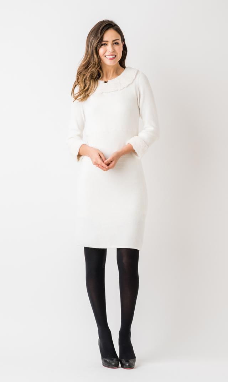 【ジュリーブラウン(Julie Brown)】マーサニットドレス(ホワイト)