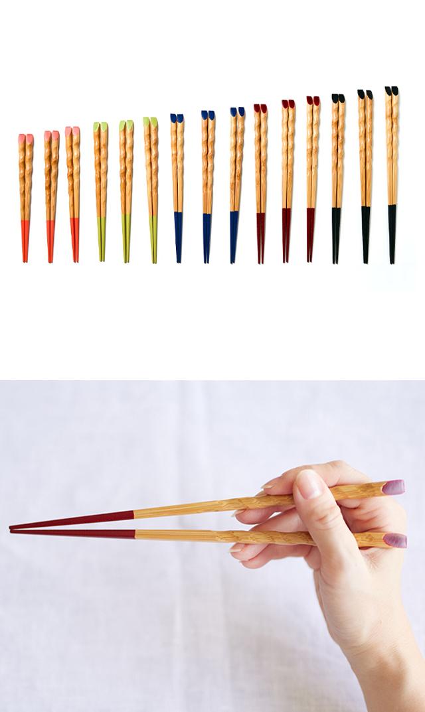 【きみの箸】竹箸 1膳 (5色展開)