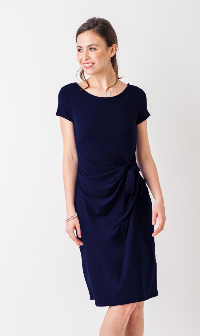 【VIRINA別注/レオタ(LEOTA)】ノンマタニティ・マディソンドレス(ネイビー)※子供服あり
