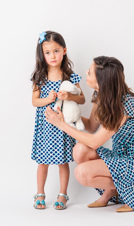 【リトルレオタ(Little LEOTA)】ステラドレス(トレリスドット)2-6歳