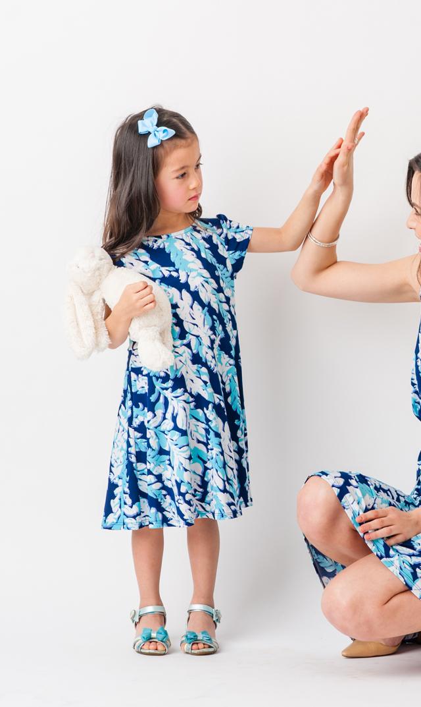 【リトルレオタ(Little LEOTA)】イラーナショートスリーブドレス(ウィロー)2-10歳