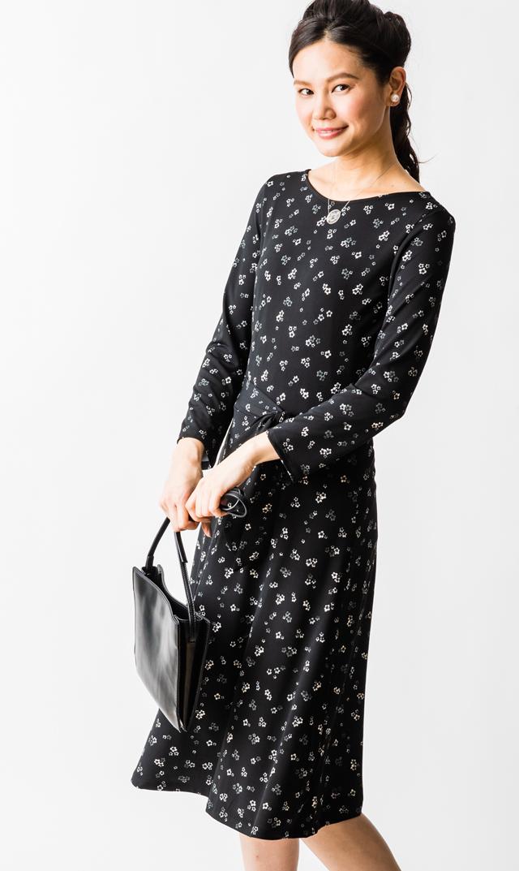 【レオタ(LEOTA)】ノンマタニティ・2WAYイラナプリムローズドレス(ブラック)
