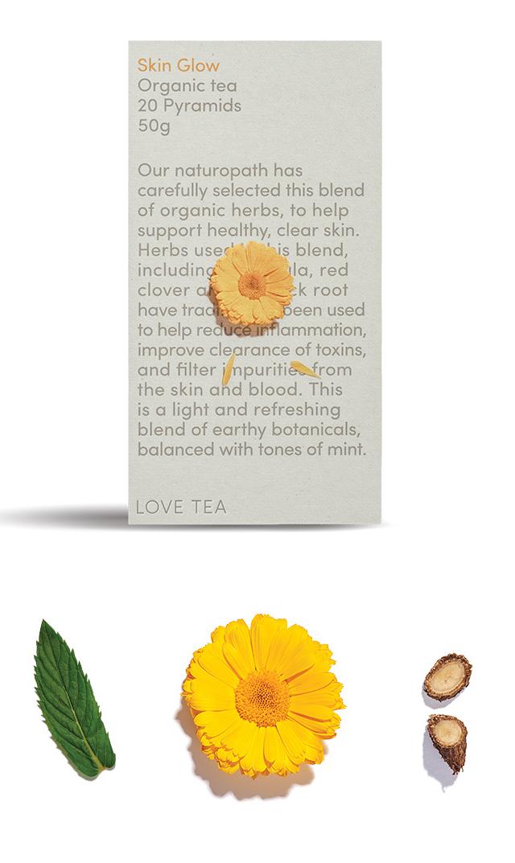 【ラブティー(LOVE TEA)】ノンカフェイン スキングロウ ティーバッグ20個入(美肌)<税率8%>