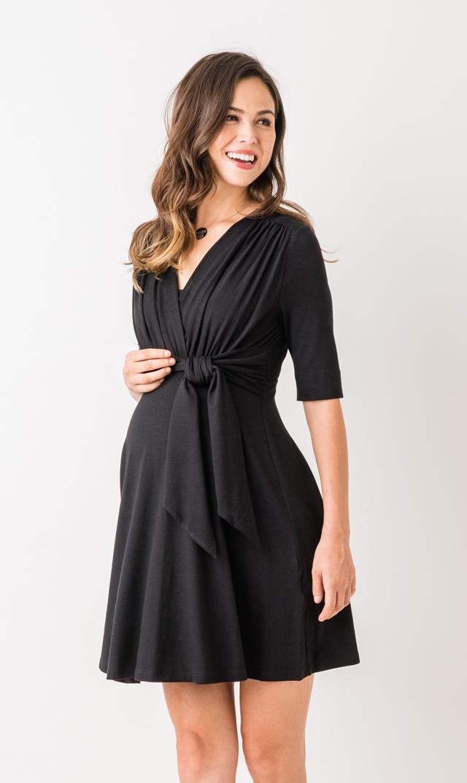 【マターナル アメリカ】ミニフロントタイナーシングドレス(ブラック)