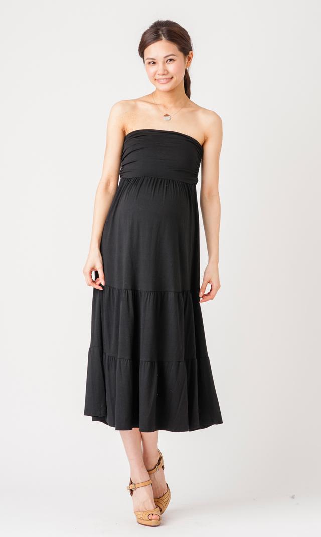 【マターナル アメリカ(maternal america)】2WAYスカートドレス(ブラック)