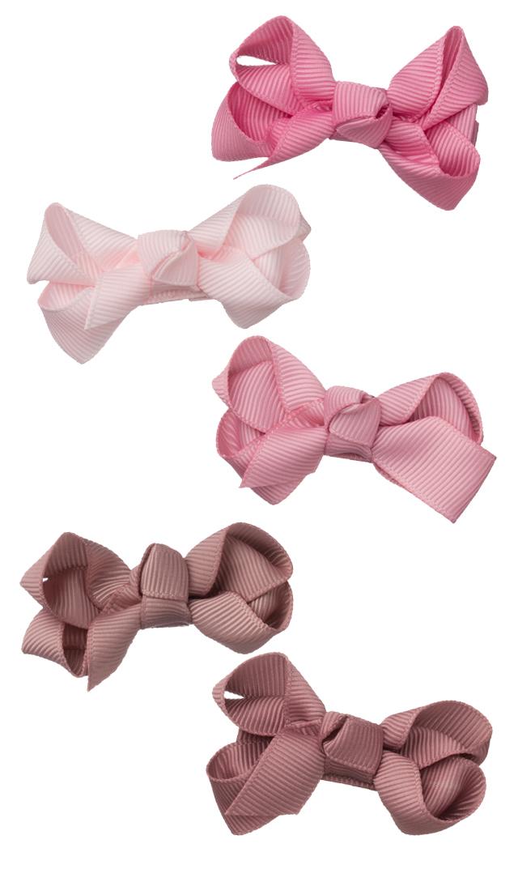 【ミールドゥ(Milledeux)】リボンヘアクリップ/スモール(ピンク系)