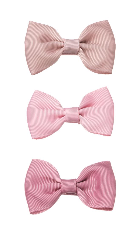 【ミールドゥ(Milledeux)】クラシカルキッズリボンヘアクリップ/スモール(ピンク系)