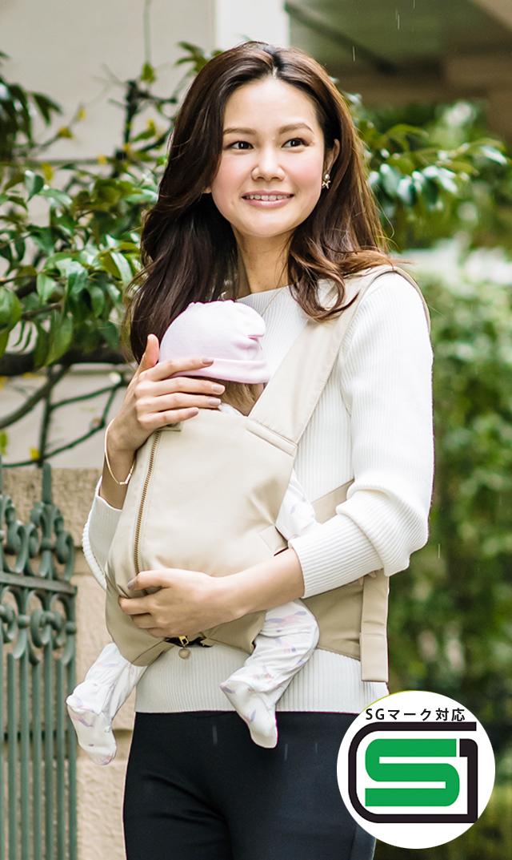 【ママイト×ヴィリーナ】SG対応モデルフード付き抱っこ紐(ベージュ)