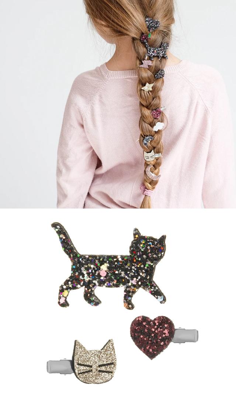 【ミミ&ルーラ】キティキャットヘアクリップ3個セット