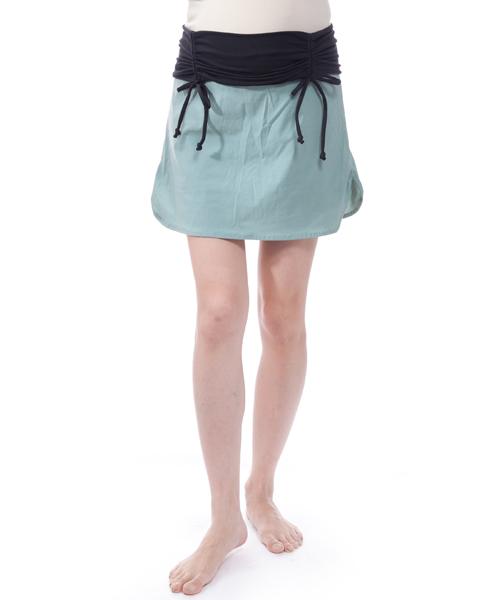 【マウンテン ママ】ランニングスカートパンツ(ぺールグリーン)/M