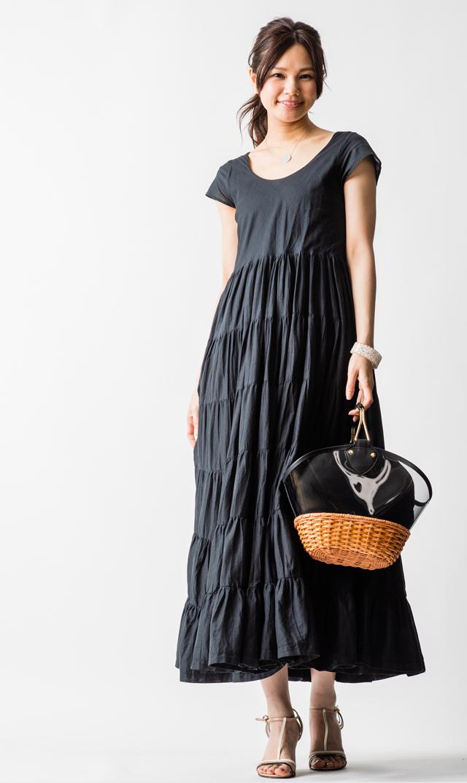 【マリハ(MARIHA)】草原の虹のドレス(ブラック)