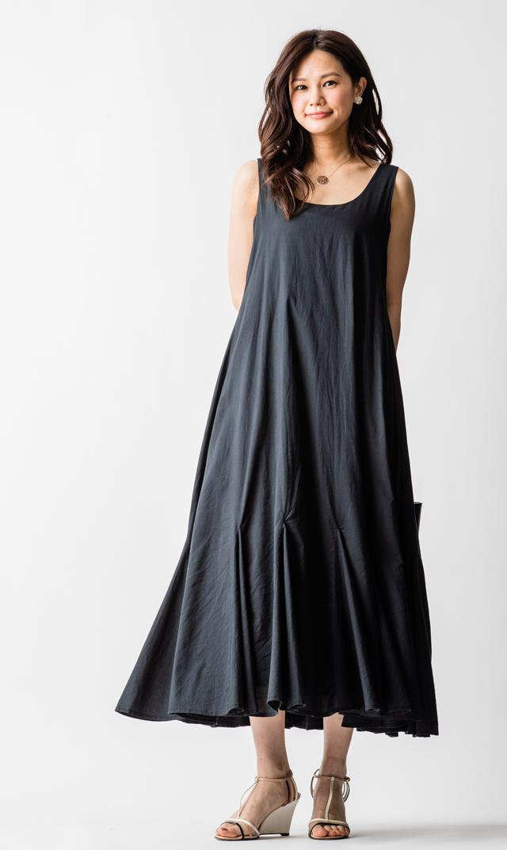 【マリハ(MARIHA)】海の月影の2WAYドレス(ブラック)