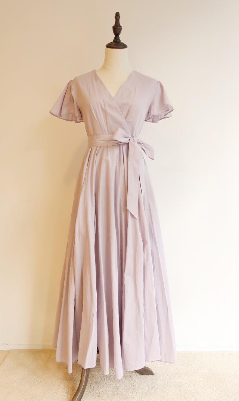 【マリハ】マドモアゼルのドレス(ペールラベンダー)