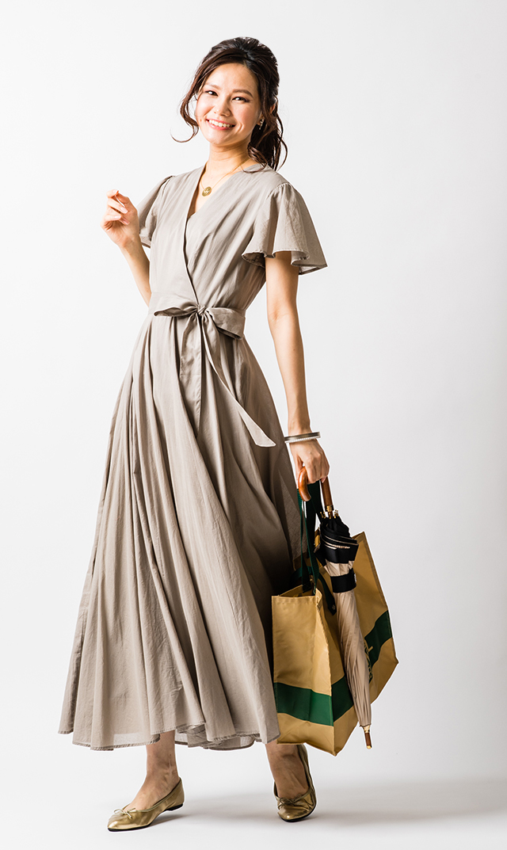 【マリハ】マドモアゼルのドレス(ムーングレー)
