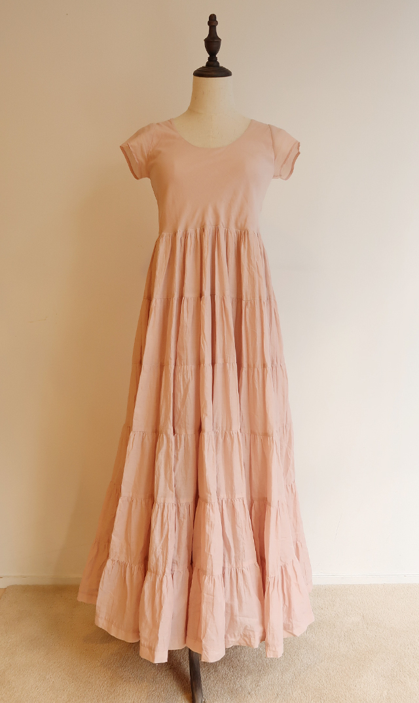 【マリハ】草原の虹のドレス(ローズクオーツ)
