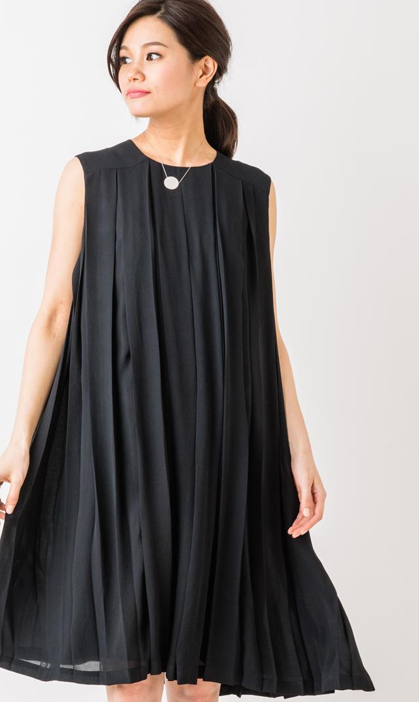 【ミテラ(MITERA)】エレンナーシングドレス(ブラック)