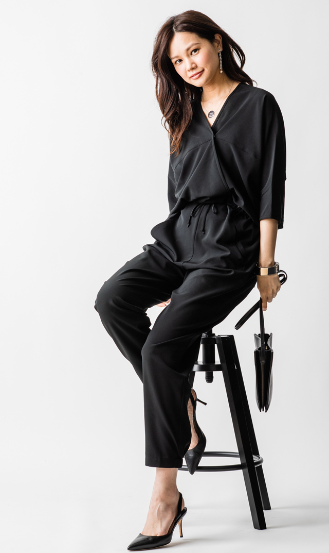 【ミテラ(MITERA)】ヨーコキモノジャンプスーツ(ブラック)