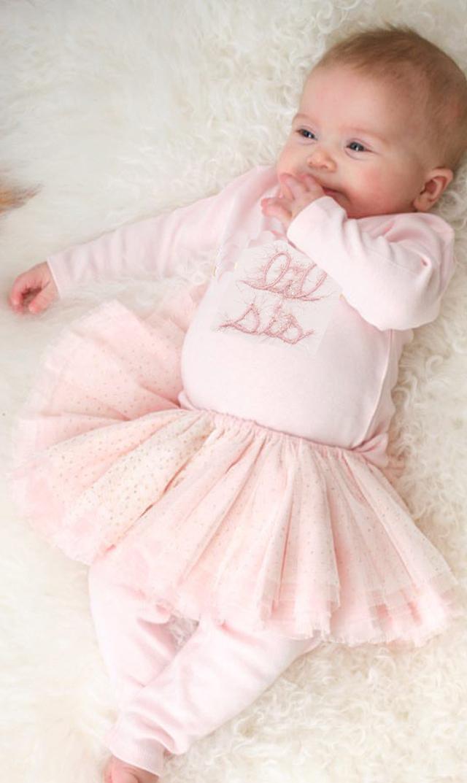 【Ohbaby!(オーベイビー】Lil Sisティー(ピンク)12ヵ月-2歳