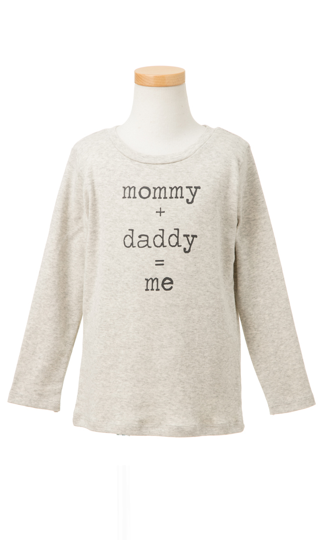 【Ohbaby!(オーベイビー】Mommy + Daddy = Meティー(グレー)12ヶ月-6歳