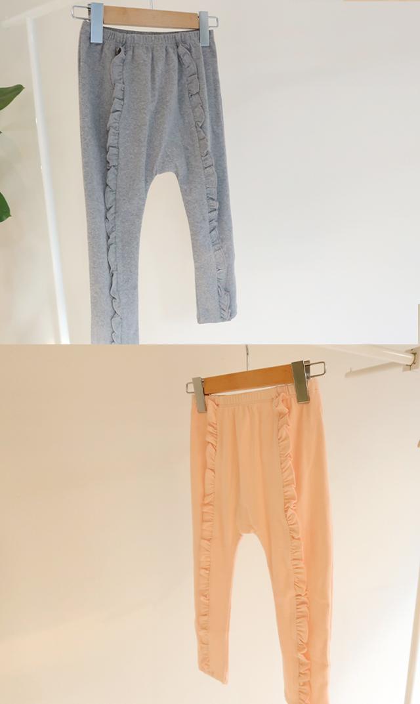 【オーベイビー】ラッフルフロントニットパンツ(2色展開)12ヶ月-4歳