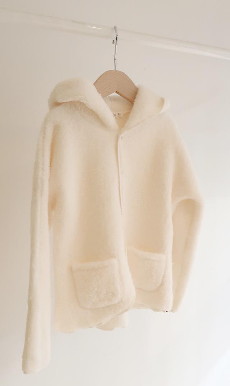 【オーベイビー】スノードリフトフードジャケット(ホワイト)18ヶ月-3歳