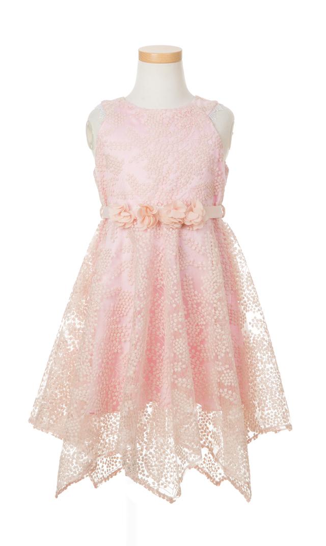 【オーマイ(Oh…My!)】レースドレス(ピンク) 2-10歳
